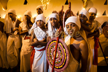 Flag Bearers in front of Temple of the Tooth, Esala Perahera Festival, Kandy, Sri Lanka Stock Photo - Premium Rights-Managed, Artist: R. Ian Lloyd, Code: 700-05642305