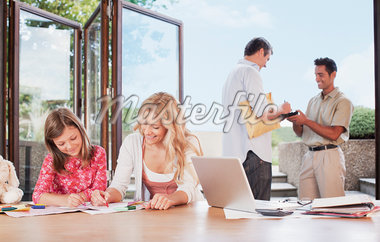 Man signing for package Stock Photo - Premium Royalty-Freenull, Code: 635-05651591