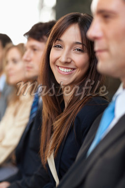 Business people sitting together Stock Photo - Premium Royalty-Freenull, Code: 635-05651627