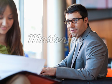 Business people working together Stock Photo - Premium Royalty-Freenull, Code: 635-05651633