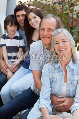 Portrait of smiling multi-generation family Stock Photo - Premium Royalty-Freenull, Code: 635-05656166