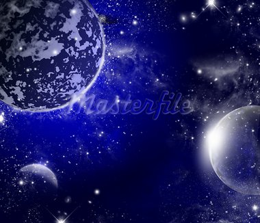Universum mit planeten und sternen Stock Photo - Royalty-Free, Artist: nicky2342                     , Code: 400-05662903