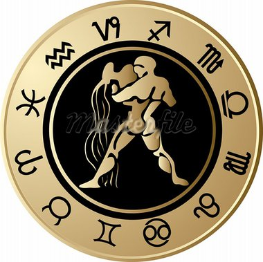 Vector Horoscope Aquarius Stock Photo - Royalty-Free, Artist: jelen80                       , Code: 400-05663025