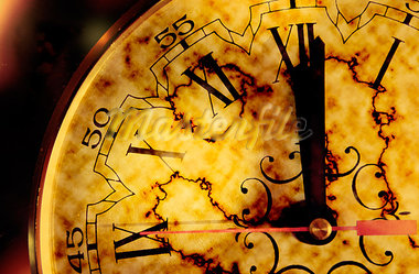 Time concept with grunge old clock Stock Photo - Royalty-Free, Artist: carloscastilla                , Code: 400-05663877