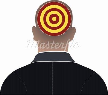 Illustration art head focus with isolated background Stock Photo - Royalty-Free, Artist: designersamy                  , Code: 400-05664917