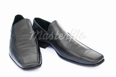 Black shoes isolated on white background. Stock Photo - Royalty-Free, Artist: RUZANNA                       , Code: 400-05665485