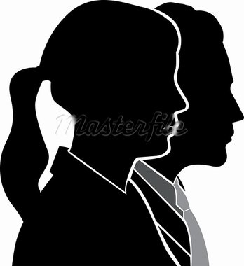 Illustration art people side face with isolated background Stock Photo - Royalty-Free, Artist: designersamy                  , Code: 400-05665569