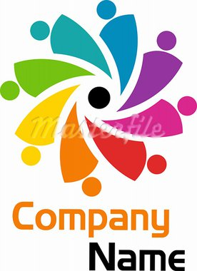 illustration art of a human logo with isolated background Stock Photo - Royalty-Free, Artist: designersamy                  , Code: 400-05665585