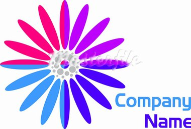 illustration art of a flower logo with isolated background Stock Photo - Royalty-Free, Artist: designersamy                  , Code: 400-05665589