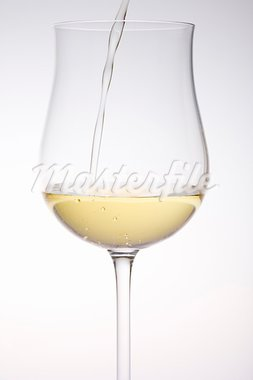 wineglass with white wine Stock Photo - Royalty-Free, Artist: phbcz                         , Code: 400-05668533
