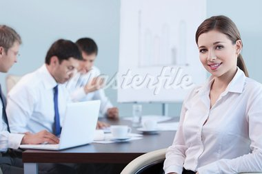Business people working in the office Stock Photo - Royalty-Free, Artist: Deklofenak                    , Code: 400-05669045