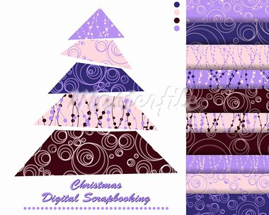 set of Christmas vector paper for scrapbook Stock Photo - Royalty-Free, Artist: Mary1507                      , Code: 400-05669149