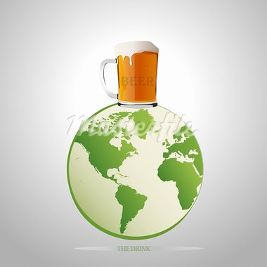 the best beer on earth vector illustration Stock Photo - Royalty-Free, Artist: bernil                        , Code: 400-05670135