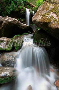 rushing waterfall in the smokey mountains Stock Photo - Royalty-Free, Artist: brandy61546                   , Code: 400-05670239