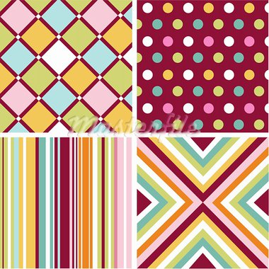 seamless patterns with fabric texture Stock Photo - Royalty-Free, Artist: lemony                        , Code: 400-05671400