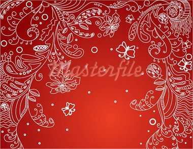 flourish greeting card, vector illustration Stock Photo - Royalty-Free, Artist: SelenaMay                     , Code: 400-05671614