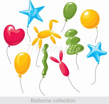 balloons collection Stock Photo - Royalty-Free, Artist: SelenaMay                     , Code: 400-05671632