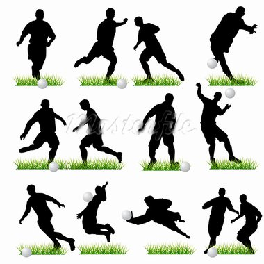 Football silhouettes set 02 Stock Photo - Royalty-Free, Artist: kaludov                       , Code: 400-05672016