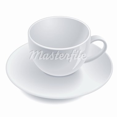 Empty teacup on saucer. Vector illustration Stock Photo - Royalty-Free, Artist: dvarg                         , Code: 400-05673118
