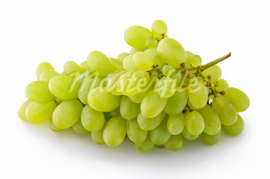 Green grapes on white background close up shoot Stock Photo - Royalty-Free, Artist: dvarg                         , Code: 400-05673186