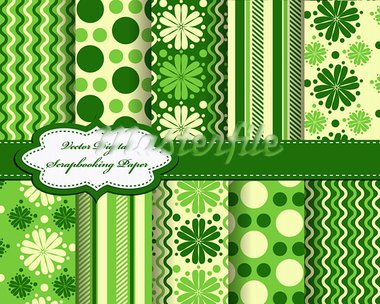 set of flower vector paper for scrapbook Stock Photo - Royalty-Free, Artist: Mary1507                      , Code: 400-05673208