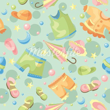 abstract cute seamless baby background vector illustration Stock Photo - Royalty-Free, Artist: SelenaMay                     , Code: 400-05673446
