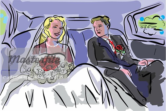 illustration for card of wedding event Stock Photo - Royalty-Free, Artist: araraadt                      , Code: 400-05673735