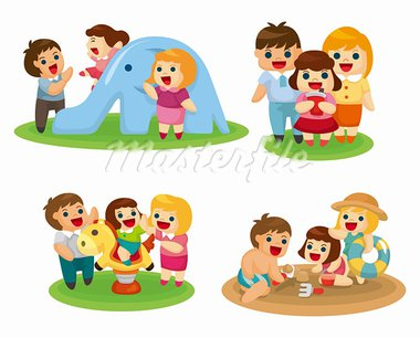 sweet family set Stock Photo - Royalty-Free, Artist: notkoo2008                    , Code: 400-05673852