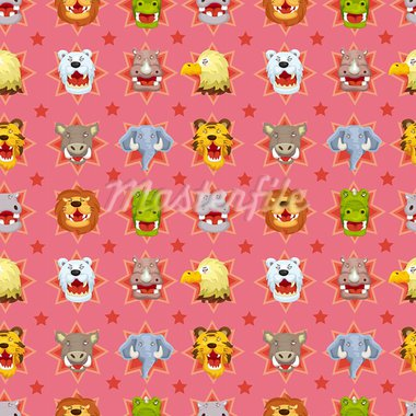 cartoon angry animal face seamless pattern Stock Photo - Royalty-Free, Artist: notkoo2008                    , Code: 400-05673854
