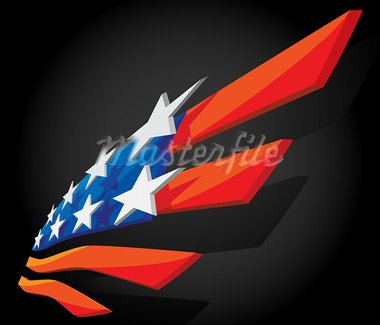 3D Abstract symbol of American flag Stock Photo - Royalty-Free, Artist: TheModernCanvas               , Code: 400-05673869
