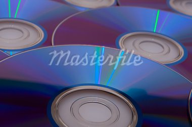 Background of Blue Glowing CD Compact Discs Stock Photo - Royalty-Free, Artist: jamdesign                     , Code: 400-05674240