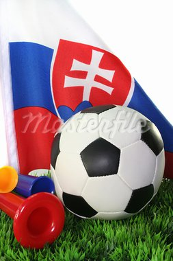 Flag of Slovakia with a football in a field Stock Photo - Royalty-Free, Artist: photooasis                    , Code: 400-05675002