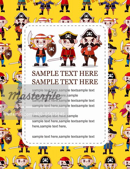 cartoon pirate card   Stock Photo - Royalty-Free, Artist: notkoo2008                    , Code: 400-05675845