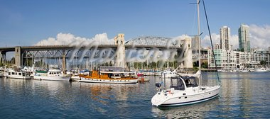 Marina under the Burrard Street Bridge Vancouver BC Canada Panorama Stock Photo - Royalty-Free, Artist: jpldesigns                    , Code: 400-05678717