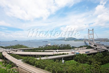 Tsing Ma Bridge in Hong Kong Stock Photo - Royalty-Free, Artist: cozyta                        , Code: 400-05679166