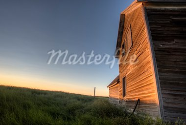 Abandoned Farmhouse Saskatchewan Canada sunset and prairie view Stock Photo - Royalty-Free, Artist: pictureguy                    , Code: 400-05679808