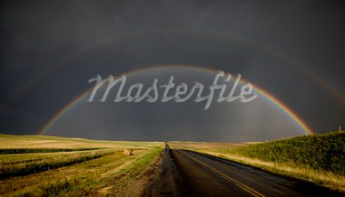 Prairie Storm Rainbow Saskatchewan CAnada Hail dramatic Stock Photo - Royalty-Free, Artist: pictureguy                    , Code: 400-05680002