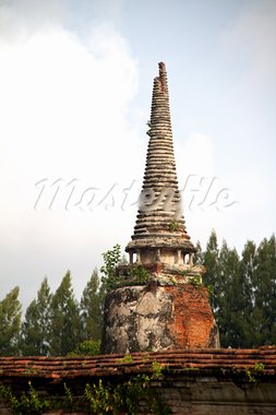 Pagoda at Wat Chaiwattanaram Temple, Ayutthaya, Thailand Stock Photo - Royalty-Free, Artist: AndreySt                      , Code: 400-05680539