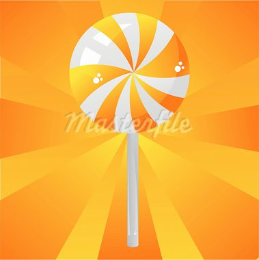 glossy orange lollipop background Stock Photo - Royalty-Free, Artist: LxIsabelle                    , Code: 400-05681076