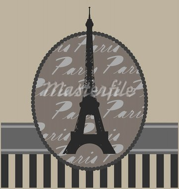 vintage background with tour Eiffel and design elements Stock Photo - Royalty-Free, Artist: Veronika_Rumko                , Code: 400-05681100
