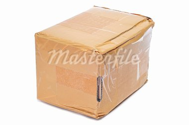 a cardboard box on a white background Stock Photo - Royalty-Free, Artist: nito                          , Code: 400-05682597