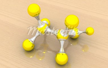 3D rendering of alcohol (ethanol) molecule C2H5OH on a wooden background Stock Photo - Royalty-Free, Artist: niranjancreatnz               , Code: 400-05682703
