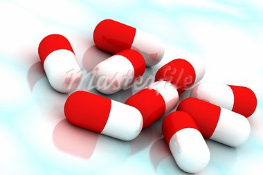3d multi use  pills in color background Stock Photo - Royalty-Free, Artist: rbhavana                      , Code: 400-05682814