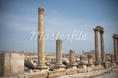 Roman ruines in the city of Jarash in Jordan Stock Photo - Royalty-Free, Artist: javimartin                    , Code: 400-05682891