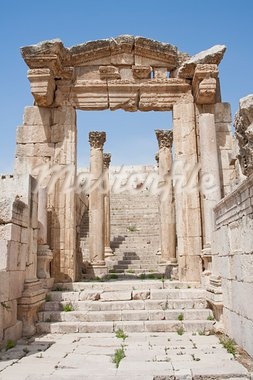 Roman ruines in the city of Jarash in Jordan Stock Photo - Royalty-Free, Artist: javimartin                    , Code: 400-05682893