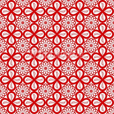 Abstract background of beautiful seamless floral pattern Stock Photo - Royalty-Free, Artist: inbj                          , Code: 400-05683151