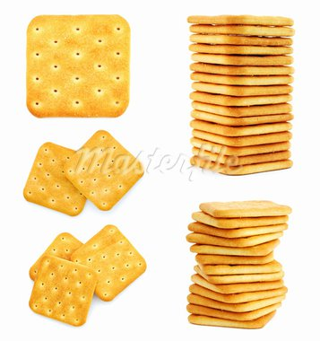Set of images with crackers isolated on white background Stock Photo - Royalty-Free, Artist: _human                        , Code: 400-05683397