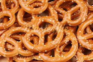 Background of crunchy mini pretzels. Stock Photo - Royalty-Free, Artist: citylights                    , Code: 400-05684405