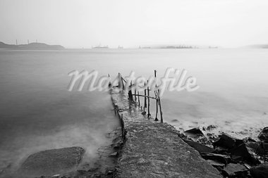 desolate pier Stock Photo - Royalty-Free, Artist: leungchopan                   , Code: 400-05684549