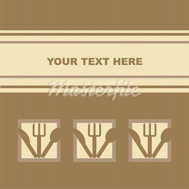 cute restaurant card Stock Photo - Royalty-Free, Artist: LxIsabelle                    , Code: 400-05685643